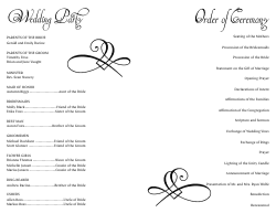 Wedding Program Template 15