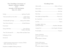 Wedding Program Template 3