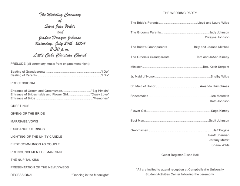 wedding program template 8