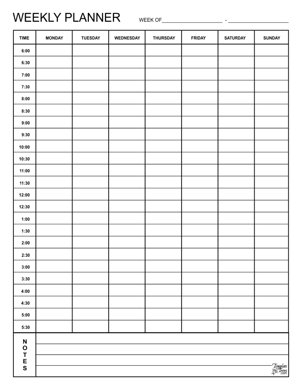 picture about Blank Weekly Schedule Pdf called Weekly Planner