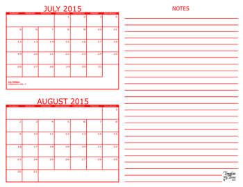 2 Month Calendars for 2013 – 2015 – Template Trove