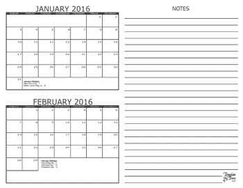 2 month calendars for 2016 2018 template trove for Double month calendar template