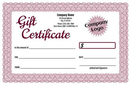 Gift Certificate Maker Template Trove